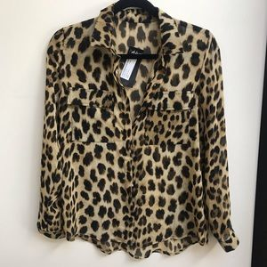 Nasty Gal animal print blouse